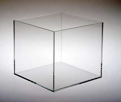 5 Sided Acrylic Cubes