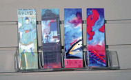 Bookmark / Tag 4-pocket Shelf for Slatwall #8065