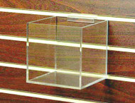 "6"" Clear Acrylic Cube for Slatwall #8511sw"