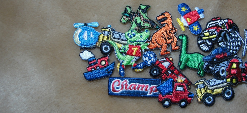 Various child infant truck dino plane car sport iron on patches