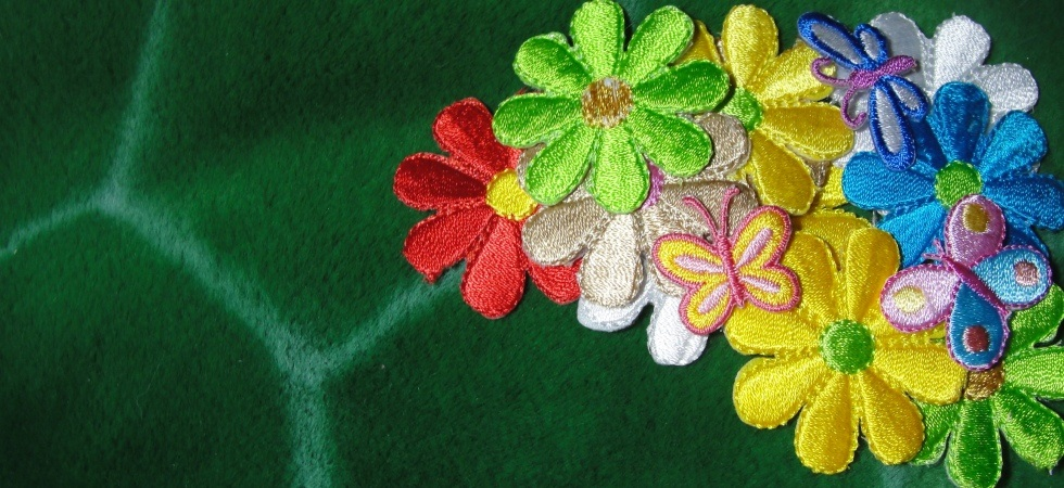 Daisy flowers dragonfly buterly iron on patches appliques