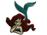 Red Haired Mermaid Embroidered Iron On Applique Patch