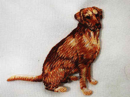 Golden Retriever Embroidered Iron On Applique Patch