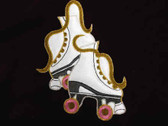 Double Roller Skate Embroidered Iron On Patch Large