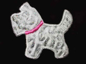 Sparkly Scotty Scottie Embroidered Iron On Patch