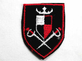 Crown Swords Heraldic Badge Iron On Applique Patch