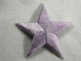Star Lilac Embroidered Iron On Patch 1.75 In