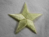 Star Pastel Yellow Embroidered Iron On Patch 1.75 In