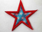 Star Patriotic Flicker Image US Flag Iron On Patch