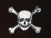 Skull Crossbones Pirate Iron On Patch 1.5 Inch