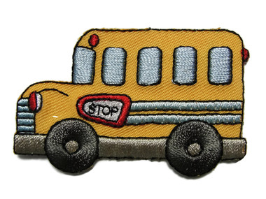 School Bus Child Embroidered Iron On Applique Patch