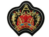 Gold Red Crown Crest Emblem Embroidered Iron On Patch Applique