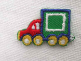 Red Green Truck Infant Embroidered Iron On Applique Patch 1 In