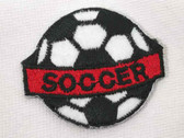 Soccer Ball Emblem Embroidered Iron On Applique Patch 2 Inch