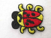 Yellow Red Beetle Bug Iron On Embroidered Applique Patch 1 In
