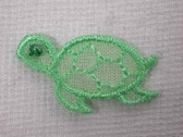 Organza Turtle Child Iron On Embroidered Applique Patch