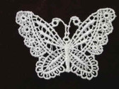 White Butterfly Venise Lace Sew On Applique Patch