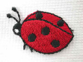 Ambling Ladybug Embroidered Iron On Patch 1 In