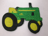 1.75 Green Tractor Deere Like Iron On Patch Applique