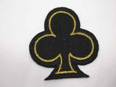 Black Gold Club Emblem Embroidered Iron On Patch