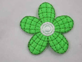 Bright Green Daisy Iron On Applique Patch 2 In