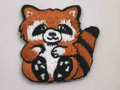 Raccoon Character Iron On Embroidered Patch 1.5 In