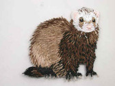 Sable Ferret Iron On Applique Patch