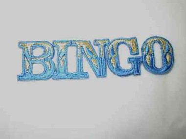 Bingo Legend Embroidered Iron On Patch B 3.5 In