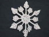 2 Grey White Snowflake Embroidered Iron On Patch 1.5 In