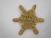 Gold Metallic Snowflake Iron On Patch C 1 Inch