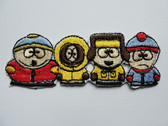 South Park Kid Group Embroidered Iron On Patch 3.38 Inches