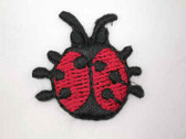 2 Lady Bug 6 Dot Embroidered Iron On Patch .88 In