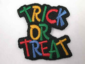 Halloween Trick or Treat Legend Iron On Applique Patch