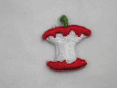 Apple Core Embroidered Iron On Patches .75 In