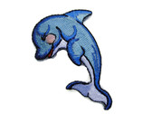 Leaping Porpoise Dolphin Iron On Patch 2.38 Inches