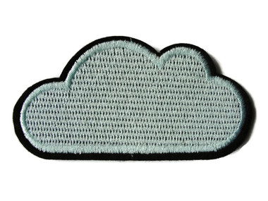 Floating Cloud Embroidered Iron On Patch Applique