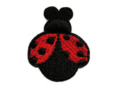 Large Red Black Ladybug Embroidered Iron On Patch Applique