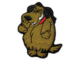 Laughing Dog Puppy Comical Embroidered Iron On Patch Applique
