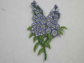 Lilac Spray Embroidered Iron On Patch 2.25 Inch