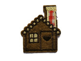 Gingerbread House Cabin Embroidered Iron On Patch 2.25 Inches