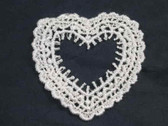 Heart Frame White Venise Lace Sew On Applique Patch