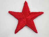 Red Star Embroidered Iron On Patch 1.75 In