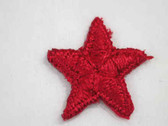 Red Star Embroidered Iron On Patch 1 In