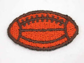 Football Embroidered Iron On Patch 1.13 Inch 1.13