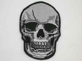 Skull Goth Pirate Embroidered Iron On Patch 3 Inch