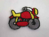 Two Motorcycle Red Yellow Child Iron On Patch