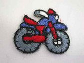 Two Motorcycle Dirt Bike Child Iron On Patch