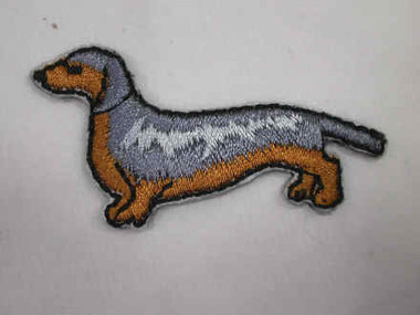 Dachshund Embroidered Iron On Applique Patch
