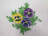 Spring Pansy Pansies Bouquet Iron On Patch
