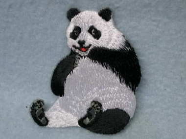 Giant Panda Embroidered Iron On Applique Patch